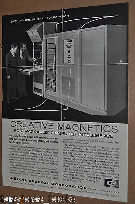 1961 Indiana General advertisement, General Ceramics computer core memory