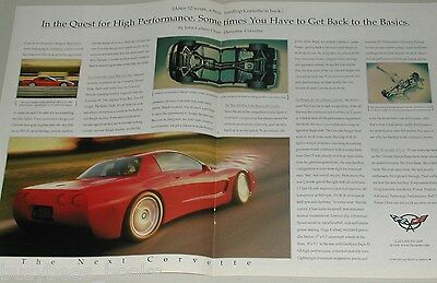 1999 Chevrolet Corvette 2-page ad, Chevy Corvette