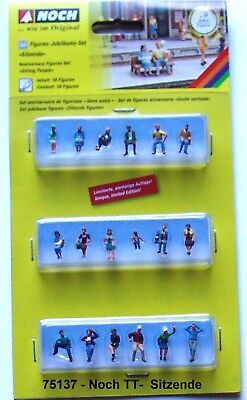 "Noch 75137 /02 TT figures-anniversary range ""Sitting"" #new original packaging##"
