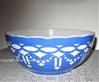 RARE Antique Bowl Boch Villeroy Blue and White- Saxony 6763 - Pottery  1800's