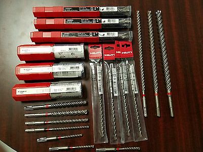 20 pcs ALL NEW HILTI CONCRETE SDS DRILL BIT + ANCHOR TORQUE BAR 3/8 1/2 AND 5/8