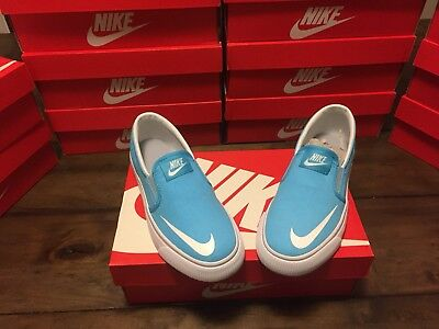 NEW Nike Toki Slipon CVS (GS) 719744 400 Size 6Y Brand New Shipped Fast!!! Blue