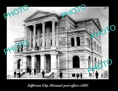 OLD LARGE HISTORIC PHOTO OF JEFFERSON CITY OLD POST OFFICE c1885