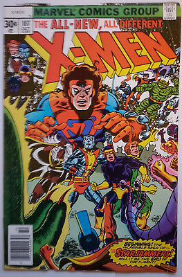 Uncanny X-Men Vol. 1 (Marvel Comics) #107 - 1st Full Appearance THE STARJAMMERS!