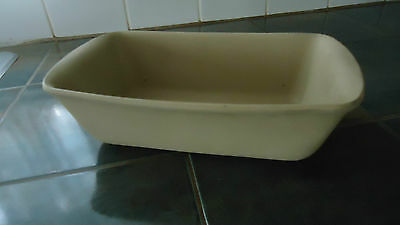 "stoneware BREAD loaf PAN  FAMILY HERITAGE COLLECTION 10.5"" END TO END"