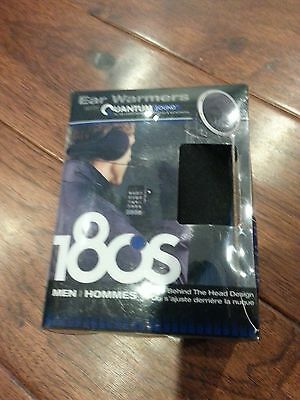 180s Tec Black Fleece Men's Ear Warmers with Quantum Sound