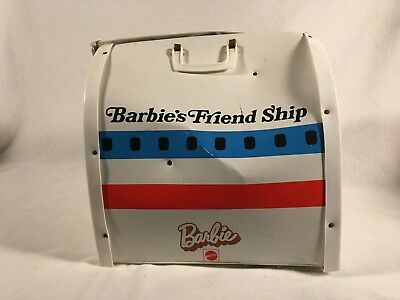 Mattel BARBIE FRIEND SHIP UNITED AIRLINE PLANE PLAYSET CARRYING CASE