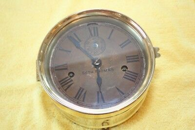 Seth Thomas Ship clock brass case