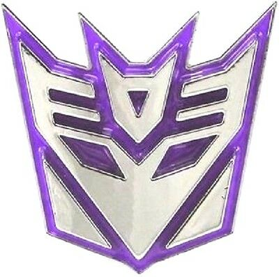 Transformers New Nickel Plated 3D Decepticon Diecast Metal Belt Buckle Free Ship