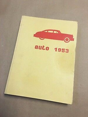 Auto 1953 by Carlo Ruffia advertising yearbook Fiat Ferrari Alfa Hudson Ford++