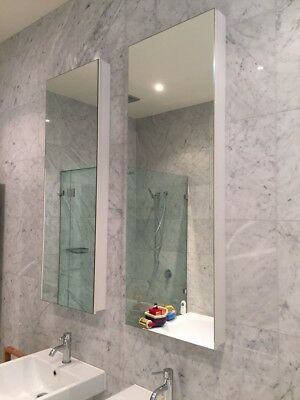 Tall Bathroom or Laundry Mirror Cabinets X2