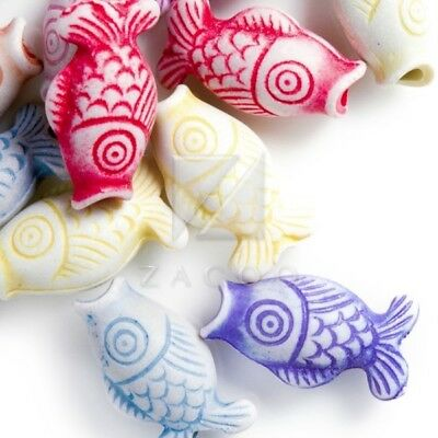54pcs Animal Acrylic Beads Charms DIY Jewelry Making 17.5x9x7mm Assorted Color