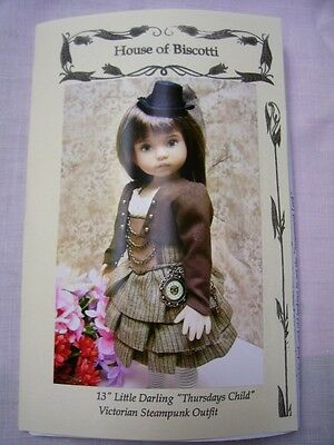 "13"" Effner Little Darling ""Thursdays Child""  Steampunk PATTERN"