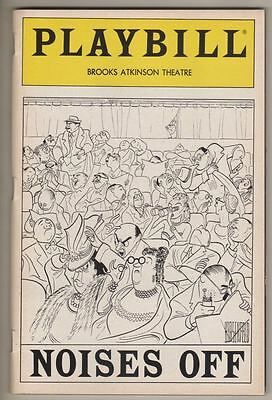 """Noises Off""  Playbill 1983 Hirschfeld Cover Dorothy Loudon, Victor Garber"