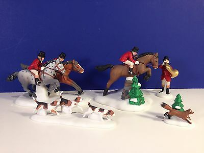 Dept 56 Dickens Village TALLYHO ! Set of 5 w/ box Combine Shipping!