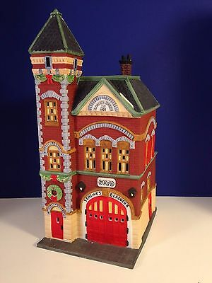Dept 56 CIC Village RED BRICK FIRE STATION w/ box Christmas in the City