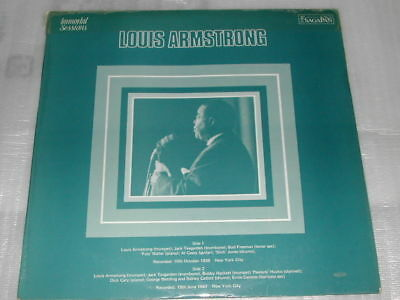 Louis Armstrong Immortal Sessions Volume 1 LP