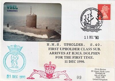 H.M.S. Upholder, S.40, First Upholder Class Sub Arrives at H.M.S. Dolphin Cover.