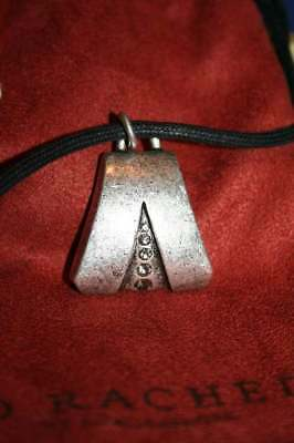 Longaberger - So Rachel- Silver Chamfered Pendant with Crystal Tackheads - NEW