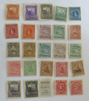 Nicaragua 1891 - 99 small collection (45 stamps) unused