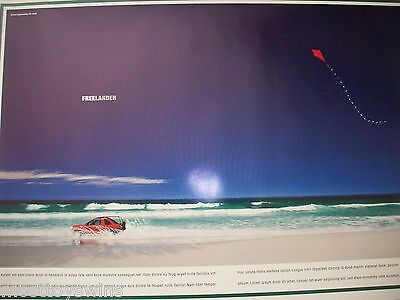 LAND ROVER ORIGINAL Freelander 3Dr Vintage CAR Poster NEW in Latin!! ultraRare