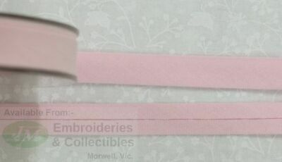 Cotton Bias Binding, 12mm Single Folded, Per Metre BABY PINK