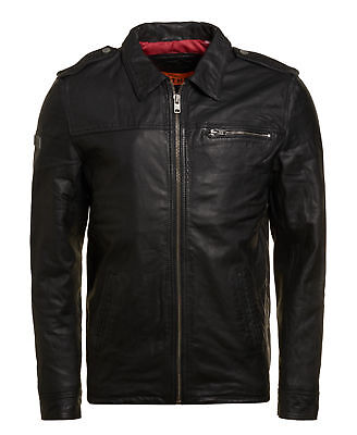 New Mens Superdry Hero Benjamin Jacket Black