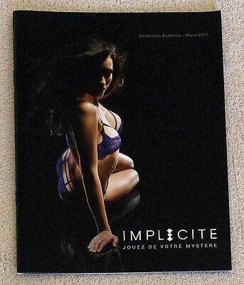 Catalogue Lingerie Implicite A-H 2015 22x17 NEUF