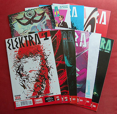 Elektra - Issues 1 - 11 - SOLD OUT FIRST PRINTS - Blackman, Del Mundo - MARVEL