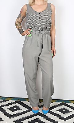 Jumpsuit UK 10 Small All in one 1980's Vintage  80's (63A)