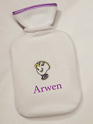 Chip Beauty & the Beast hot water bottle personalised girls ladies xmas gift