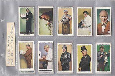 Cigarette Cards - In Town Tonight - Issued in 1938 - Full set of 50