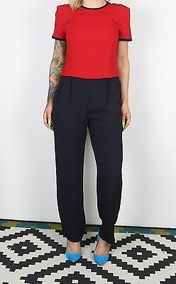 Jumpsuit UK 8 XS All in one 1980's Vintage  80's (63M)