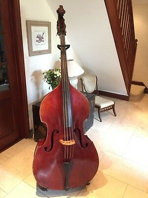 Vintage Selmer Double Bass, upright bass, 1930-1950's, with new strings