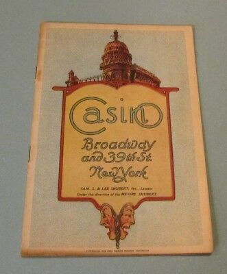 1919 A Lonely Romeo Broadway Show Program The Casino Theatre Lew Fields Comedy