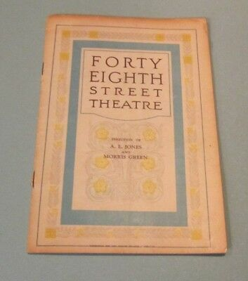 1926 The Jeweled Tree Broadway Show Program 48th Street Theatre Walter Petrie