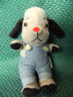 "Sweep from Sooty & Sweep  soft toy 7"" approx preloved"