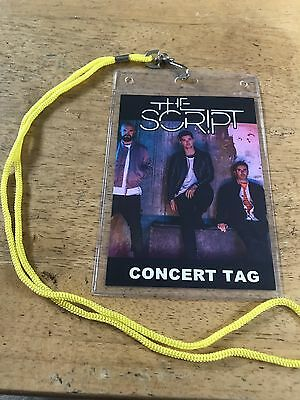 The Script Tour Tag/souvenir Replica Lanyard