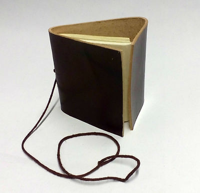 LARP Tiny Leather Bound Book, Hand Made Paper