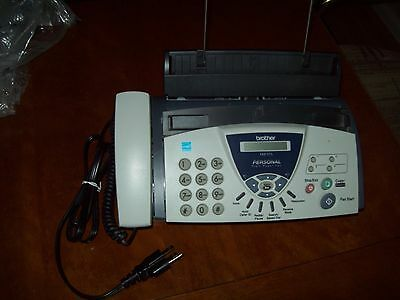 Brother FAX-575 Plain Paper Fax Phone Copier with 3 replacement print cartridges