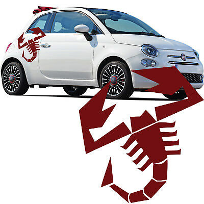 Fiat 500 Abarth Scorpion Car Side Stripes Stickers Italian Flag decal graphic