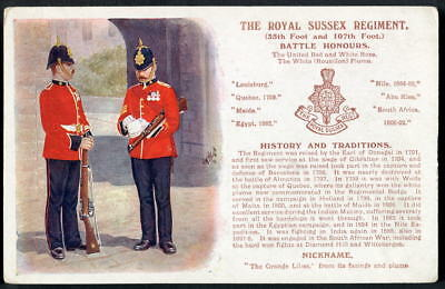 THE ROYAL SUSSEX REGIMENT History & Traditions series. JOHN McNEILL art 1909