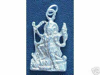 LOOK Silver Hindu GODDESS OF PROTECTION KALI OM SHIVA charm