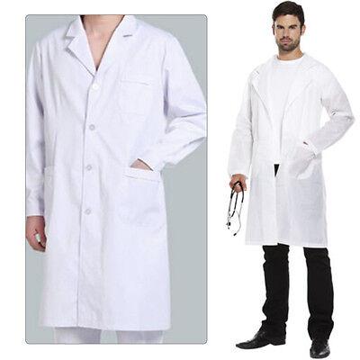 Lab White Laboratory Warehouse Doctor Work Wear Coat Medical Healthcare Hygiene