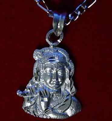 LOOK Hindu Krishna OM Real Sterling Silver .925 Charm Pendant PROTECT Jewelry