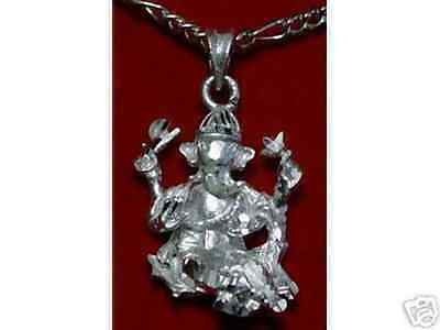 LOOK Hindu Lord Ganesh OM Silver Charm Pendant Jewelry