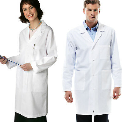 White Mens Womens Lab Coat Medical Adult Doctor Food Hygiene Warehouse Work Wear