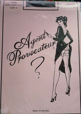 Agent Provocateur vintage Black Fully fashionned Seamed stockings  Aspect 50's