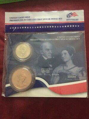 2008 John Quincy and Louisa Adams First Spouse Presidential Coin & Medal Set
