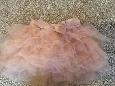 Next Girls Dusty Pink Tutu Skirt 2-3 Years With Bow